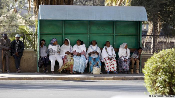 Eritrea Hauptstadt Asmara Bushalotestelle