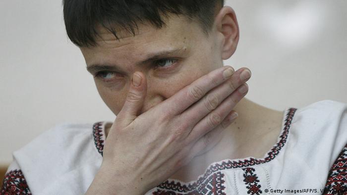 Prozess gegen die ukrainische Pilotin NadijaSawtschenko(Foto: SERGEI VENYAVSKY/AFP/Getty Images)