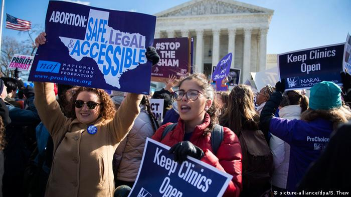 Demonstration für legale Abtreibung in Washington