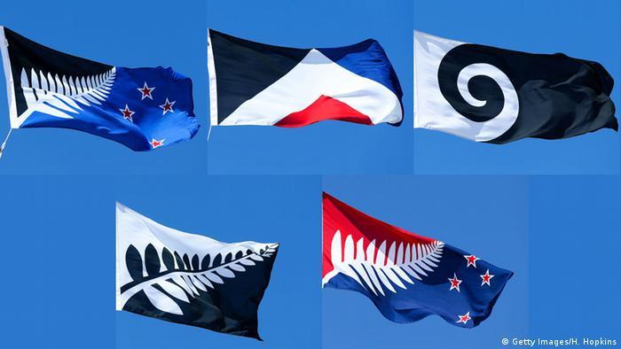 Neuseeland Bildkombo Vorschläge neue Nationalflagge