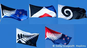 Five alternative flag choices were offered in the first referendum