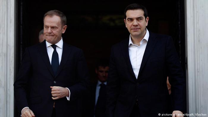 Griechenland PK Donald Tusk und Alexis Tsipras