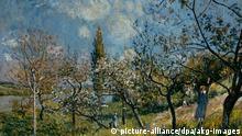Bildergalerie Frühlingsanfang Gemälde picture-alliance/dpa/akg-images 3FK-S13-A5 (46917) 'Obstgarten im Frühling' Sisley, Alfred 1839-1899. 'Obstgarten im Frühling', 1881. Öl/Lw., 54x72 cm. E: 'Fruit Garden in Spring' Sisley, Alfred 1839-1899. 'Fruit Garden in Spring', 1881. Oil on canvas 54 x 72cm. F: 'Verger au printemps' Sisley, Alfred ; 1839-1899. - 'Verger au printemps', 1881. Huile sur toile, H. 0,54 ; L. 0,72.