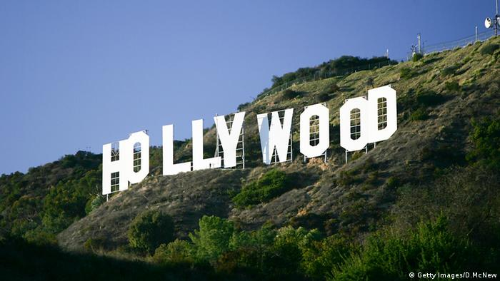 Los Angeles Hollywood Hills Logo Schriftzug (Getty Images/D.McNew)