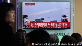 Südkorea TV-Programm zu Raketenabschuss in Nordkorea