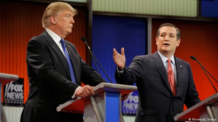 USA Republikaner Debatte - Donald Trump & Ted Cruz