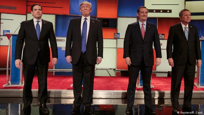 USA Republikaner Debatte in Detroit, Michigan