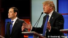 USA Republikaner Debatte - Marco Rubio & Donald Trump