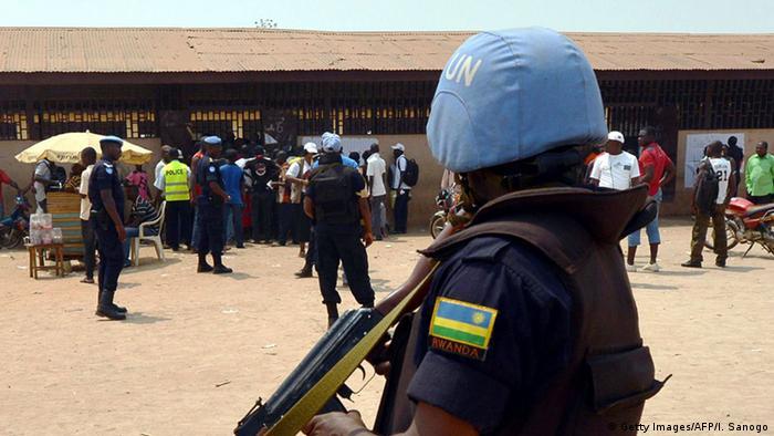 Zentralafrikanische Republik Blauhelmsoldat