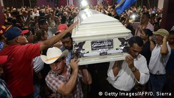 Honduras Beerdigung von Berta Cáceres