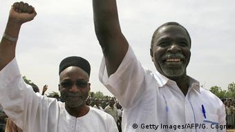 Tschad N'djamena Saleh Kebzabo (L) and Ngarlejy Yorongar