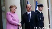 Frankreich Francois Hollende empfängt Angela Merkel