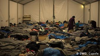 Griechenland Idomeni by Night Group tents