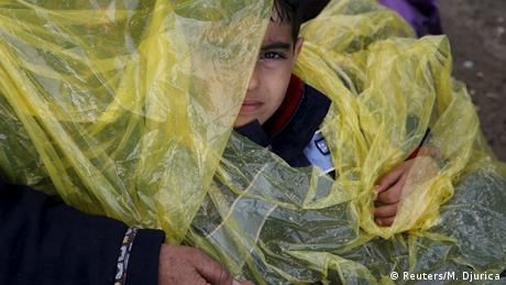 Griechenland Flüchtlinge an der Grenze zu Mazedonien bei Idomeni