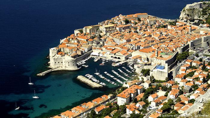 Kroatien Dubrovnik von oben
