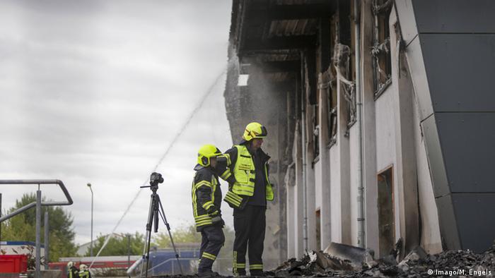 Deutschland Brand in einer Turnhale in Nauen