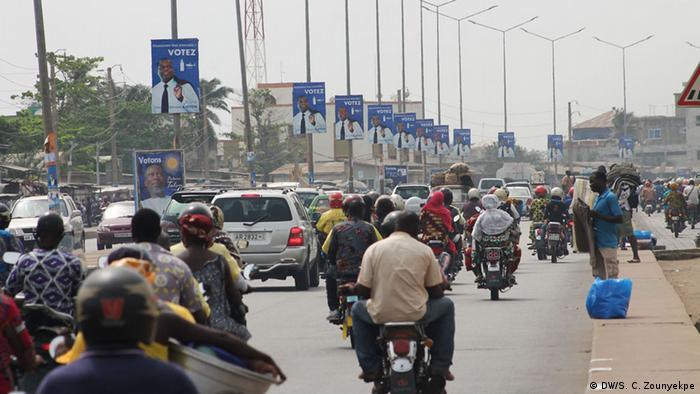 Benin Wahlen Wahl-Atmosphäre in Cotonou
