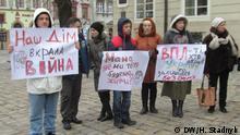 Ukraine Flüchtlinge in Lwiw