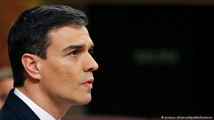 Spanische Sozialistische Parteichef Pedro Sanchez