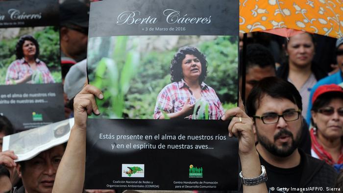 Honduras Begräbnis von Berta Caceres