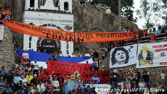 راهپیمایی اعتراض به قتل برتا کازراس