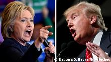Hillary Clinton and Donald Trump are seen in a combination of file photos taken in Henderson, Nevada and Phoenix, Arizona Democratic presidential candidate Hillary Clinton (L) and Republican presidential candidate Donald Trump are seen in a combination of file photos taken in Henderson, Nevada, February 13, 2016 (L) and Phoenix, Arizona, July 11, 2015. REUTERS/David Becker/Nancy Wiechec/Files Copyright: Reuters/D. Becker/N. Wiechec