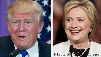 USA Wahlkampf Hillary Clinton und Donald Trump