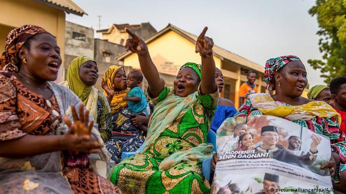 Benin Cotonou Präsidentschaftswahlen Anhänger Lionel Zinsou