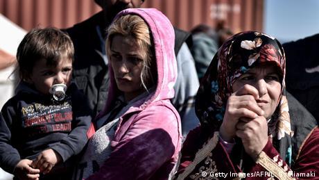Griechenland Mazedonien Flüchtlinge an der Grenze bei Idomeni