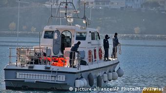 Griechenland Samos Boot der Küstenwache