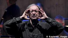 January 1, 2003 (c) Reuters/L. Foeger Maestro Nikolaus Harnoncourt conducts the traditionel New Year's Concert of the Vienna Philharmonics in Vienna, Austria, in this January 1, 2003 file photo. REUTERS/Leonhard Foeger/Files