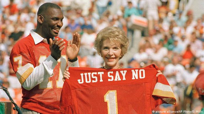 Nancy Reagan highlights her Just say no campaign