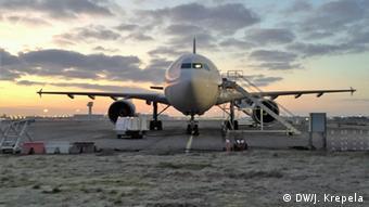 Frankreich Airbus A-310 Forschungsflugzeug der Firma Novespace für Parabelflüge (Foto Copyright: DW/J. Krepela)