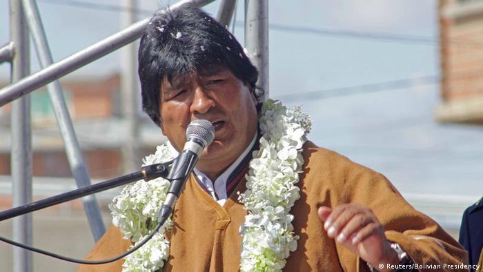 Bolivien Präsident Evo Morales in La Paz