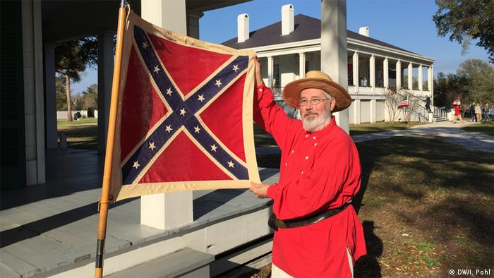 USA Confederate Flag Day in Beauvoir (DW/I. Pohl)