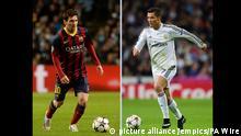 Spanien Cristiano Ronaldo und Lionel Messi