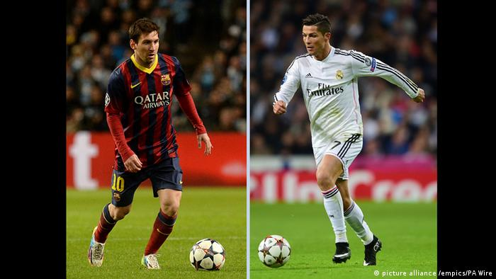 Spanien Cristiano Ronaldo und Lionel Messi (picture alliance /empics/PA Wire)