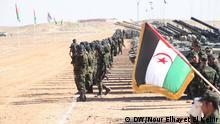 Algerien Tindouf bewaffnete Polisario-Kämpfer im Flüchtlingslager