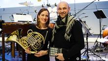 Electro musician Henrik Schwarz and Sarah Willis