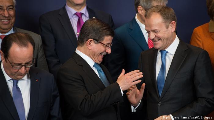 Davutoglu said the EU should show more solidarity with Turkey