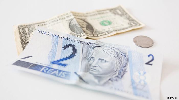Dollar Real Wechselkurs Symbolbild Währung USA Brasilien (Imago)