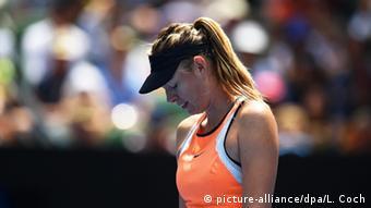 La jugadora rusa Maria Sharapova en el Abierto de Australia.