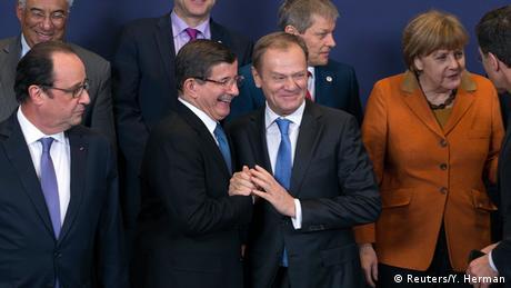EU Sondergipfel Türkei in Brüssel Davutoglu Tusk