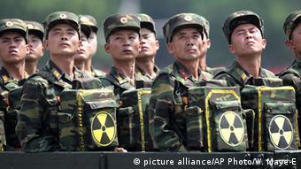 Nordkorea Soldaten (picture alliance/AP Photo/W. Maye-E)
