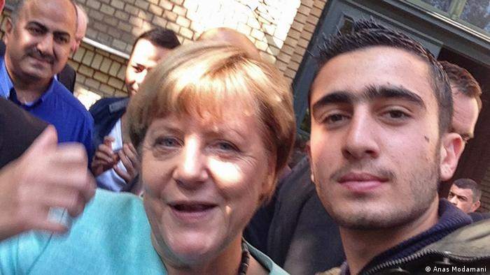 Deutschland Selfie Merkel und Syrer Anas Modamani