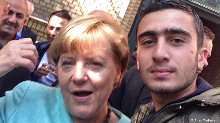 Angela Merkel and SAnas Modamani