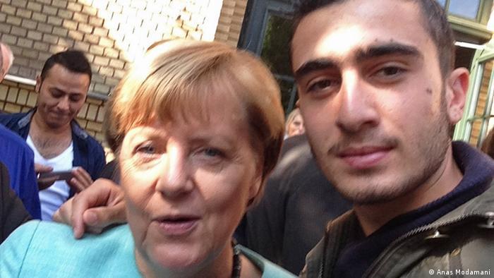 Селфі сирійського біженця Анаса Модамані із Меркель
