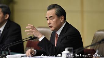 China Chinesischer Außenminister Wang Yi auf der National People`s Konferenz
