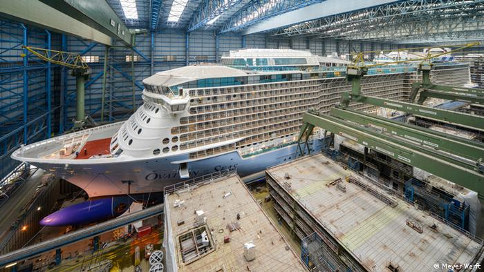 Massive Germanbuilt Cruise Ship Norwegian Joy Leaves Port DW - Cruise ship builders