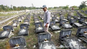 Gräber von unbekannten Soldaten aus dem Krieg mit USA